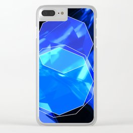 Blue crystal Clear iPhone Case