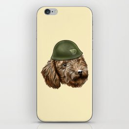 Toy Poodle Soldier iPhone Skin