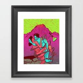 Lava love Framed Art Print