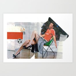Football Fashion #1 Art Print