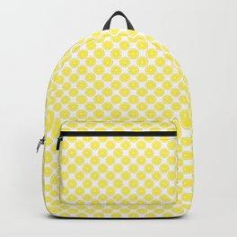 Yellow Lemon Fruit Slices Pattern Backpack