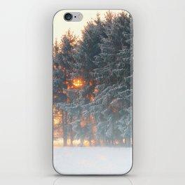 Sunrise in winter cloud forest iPhone Skin