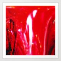 Red Rosed Venus II Art Print