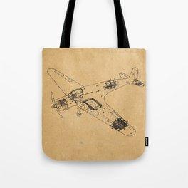 Airplane diagram Tote Bag