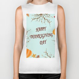 Happy Thanksgiving day postcard Biker Tank