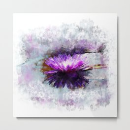 Purple Lotus Metal Print