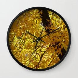 Fall on fire Wall Clock