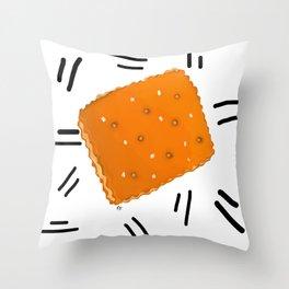 Peanut Butter Cracker Throw Pillow