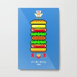 BurgerTime Metal Print
