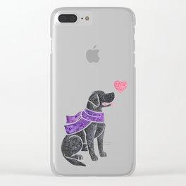 Watercolour Labrador Retriever Clear iPhone Case