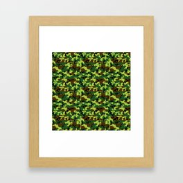 camouflage militaire Framed Art Print