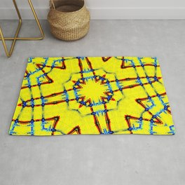 Yellow Router Rug