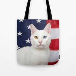 Ameri-Cat the beautiful Tote Bag