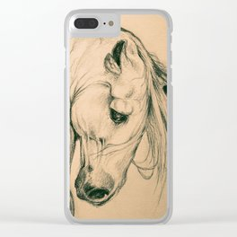 Andalusian Beauty Portrait In Sepia Clear iPhone Case