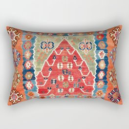 Bayburt Northeast Anatolian Niche Kilim Print Rectangular Pillow