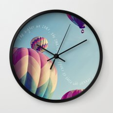 the higher we soar Wall Clock