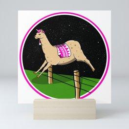 Llama dreamer Mini Art Print