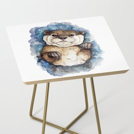 Watercolor Otter Side Table