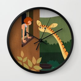 Come Outside Wall Clock