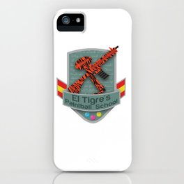 El Tigre's Paintball School iPhone Case