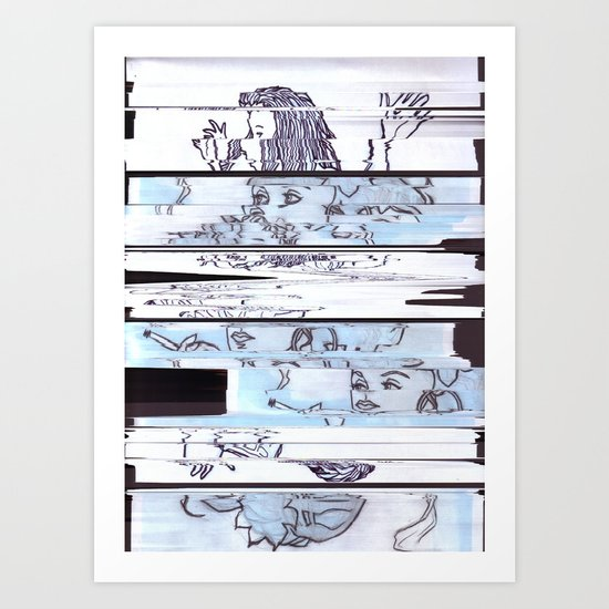Autistic Remix #002 Art Print