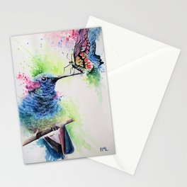 Hummingbird and Butterfly Stationery Cards