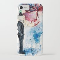 magritte iPhone & iPod Cases featuring Magritte, Apple & Mermaid by Claudia Feher