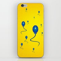 computer iPhone & iPod Skins featuring computer love by mangulica illustrations
