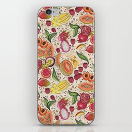 Ready to Eat - Fruit Pattern in White iPhone Skin