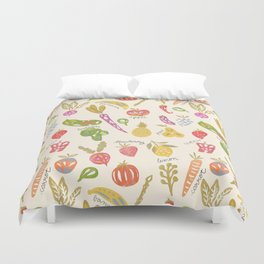 Veggies and Fruits Duvet Cover