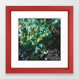 """""""don't think..."""" Framed Art Print"""
