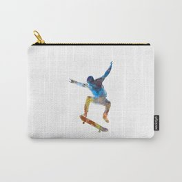 Man skateboard 01 in watercolor Carry-All Pouch