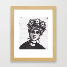 Punk Cinderella Framed Art Print
