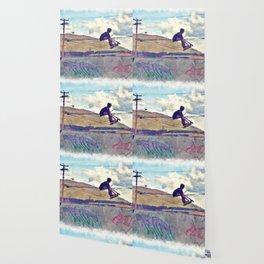 Graffitti Glide Stunt Scooter Sports Artwork Wallpaper