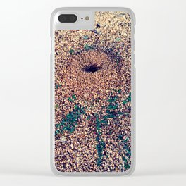 Hole to the world Clear iPhone Case