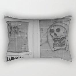 Death's newspaper booth Rectangular Pillow