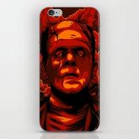 frankenstein iPhone & iPod Skins featuring Frankenstein by Denis O'Sullivan