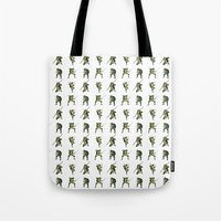 ninja turtle Tote Bags featuring Ninja Turtle Pattern by Neal Julian