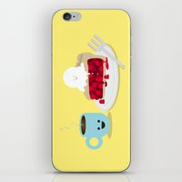 pie iPhone & iPod Skins featuring Coffee and Pie by Terry Irwin