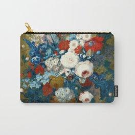 "Jan van Os  ""Flower still life with a bird's nest on a ledge"" Carry-All Pouch"