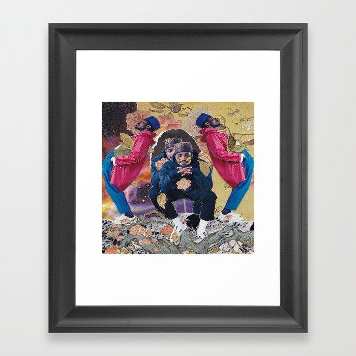 andre 3000 collage Gerahmter Kunstdruck