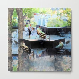 Summer space, smelting selves, simmer shimmers. [extra, 10] Metal Print