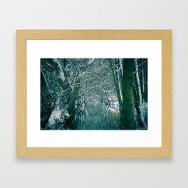 Winter river No. 1 Framed Art Print