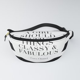 QUOTE, A Girl Should Be Two Things Classy And Fabulous, Girls Room Decor,Gift For Her,Te Fanny Pack