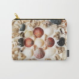Scallops + Coral x Lucina Carry-All Pouch
