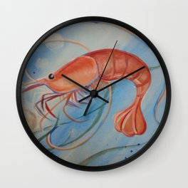 Georgia Shrimp Wall Clock