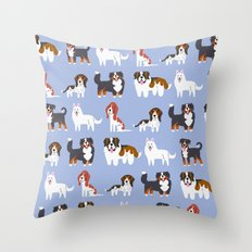 SWISS DOGS Throw Pillow