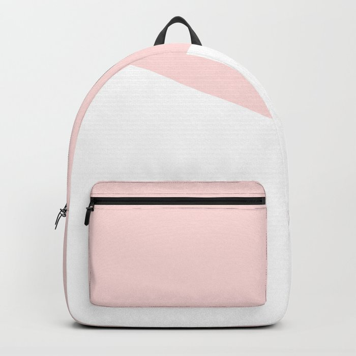 Urban Geometry Perfect Pink + White Backpack