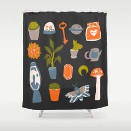 Minimalist Teenage Bedroom Flash Sheet Shower Curtain