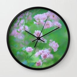 Tiny Pink Expressions Wall Clock
